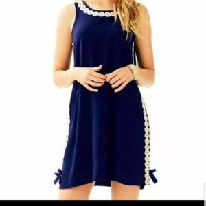 NWT Lilly Pulitzer Stella Shift Dress True Navy 0